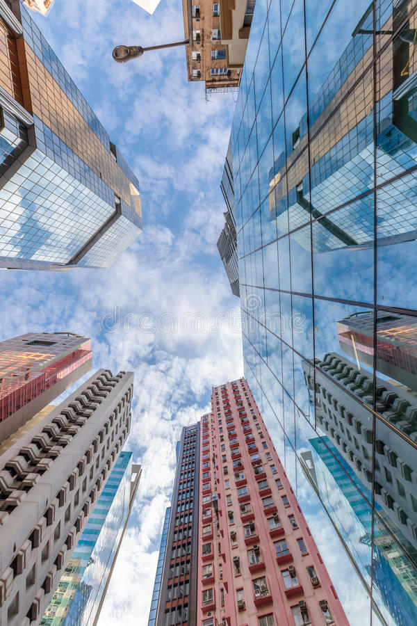 Budynek perspektywa Hong Kong zdjęcie royalty free