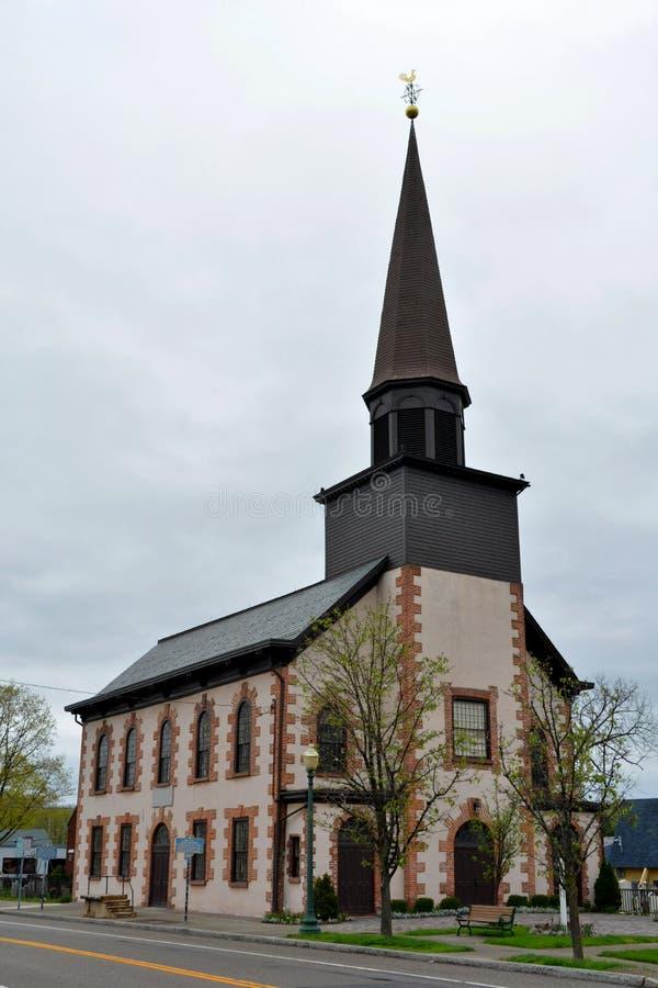 Budynek Pierwszy Reformowany kościół w Fishkill, NY fotografia stock