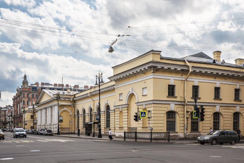 Budynek poprzedni Manege pułk kawalerii na Potemkin ulicie w St Petersburg zdjęcie royalty free