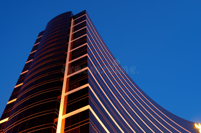 budynek reklamy noc obraz stock