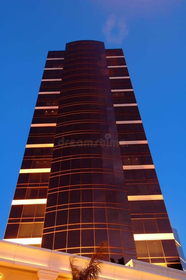 budynek reklamy noc zdjęcia stock