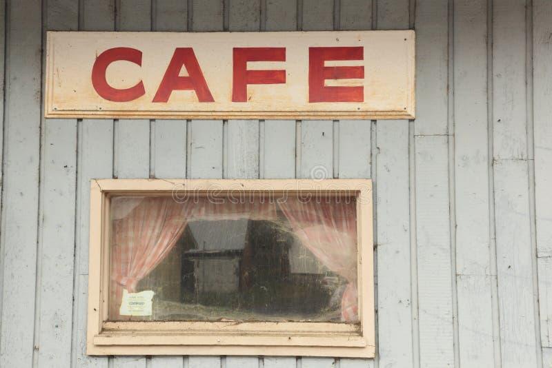budynek restauraci cukierniany zamknięty stary znak zdjęcia royalty free
