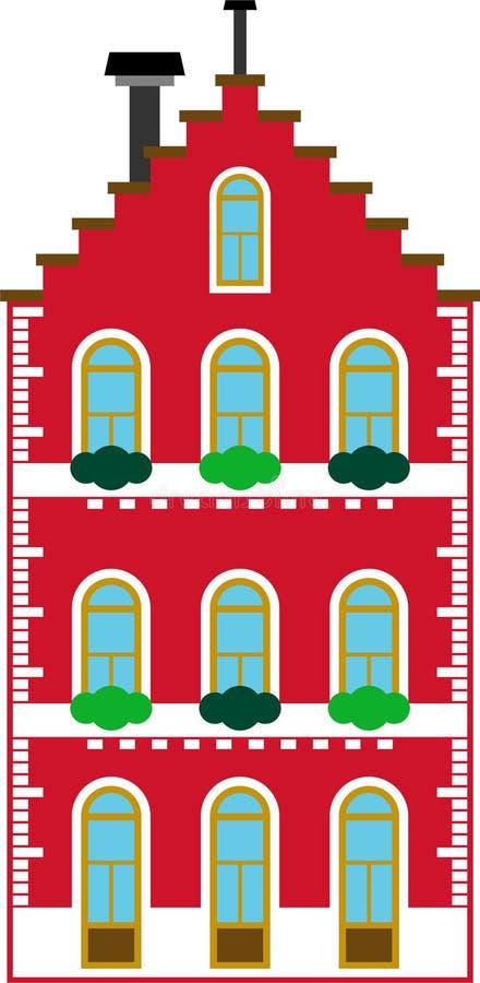 Budynek rodzajowy budynek ilustracja wektor