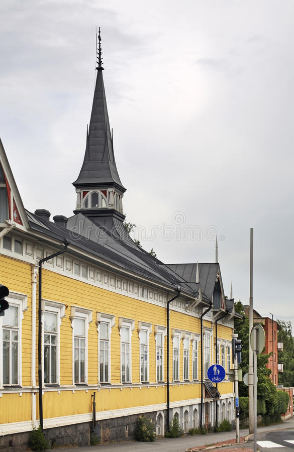Budynek szkoły w Kokkola Finlandia zdjęcia royalty free