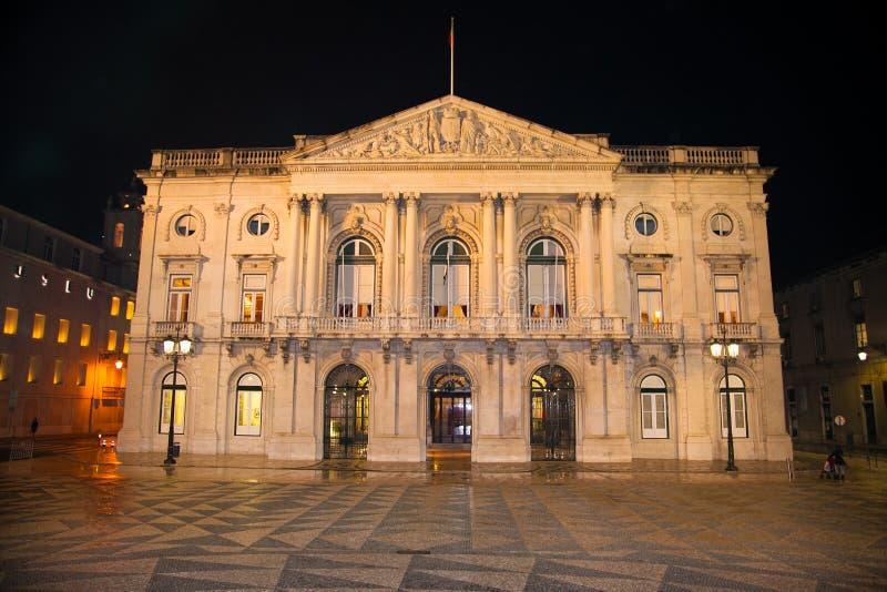 Budynek urząd miasta miejski kwadrat i, Lisbon, Portugalia obrazy stock