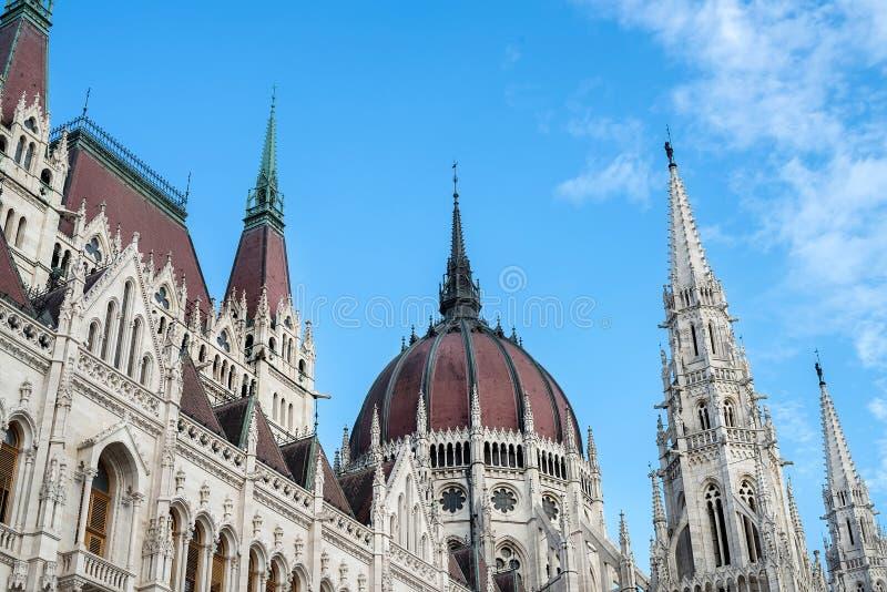 Budynek Węgierski parlament wewnątrz fotografia stock