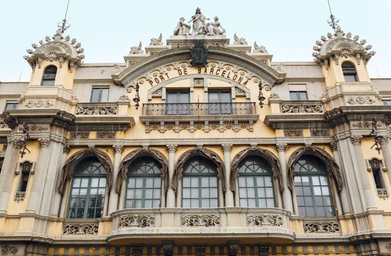 Budynek władza Barcelona port w Hiszpanii zdjęcia stock