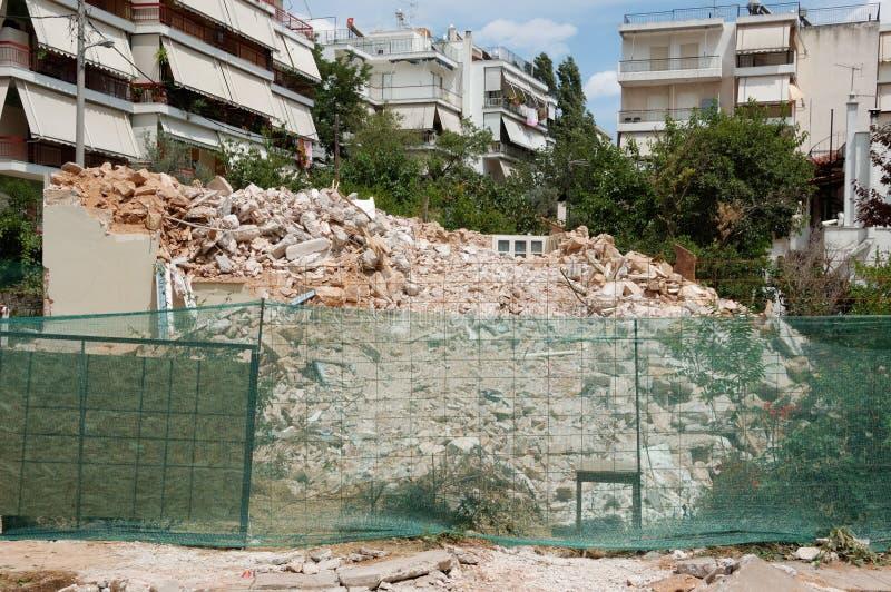 budynek wyburzający zdjęcia stock