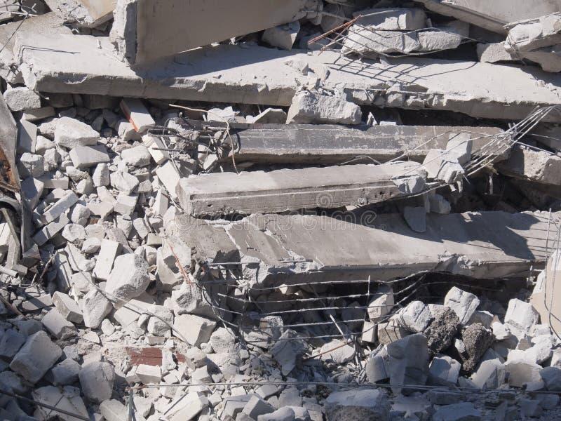 budynek wyburzający szczegół zdjęcia royalty free
