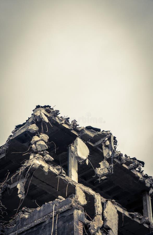 budynek wyburzający szczegół zdjęcia stock