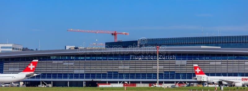 Budynek Zurich lotnisko obrazy royalty free