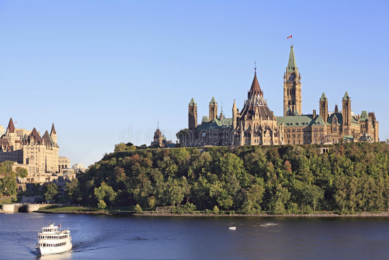 budynków biblioteczny Ottawa parlament zdjęcia royalty free