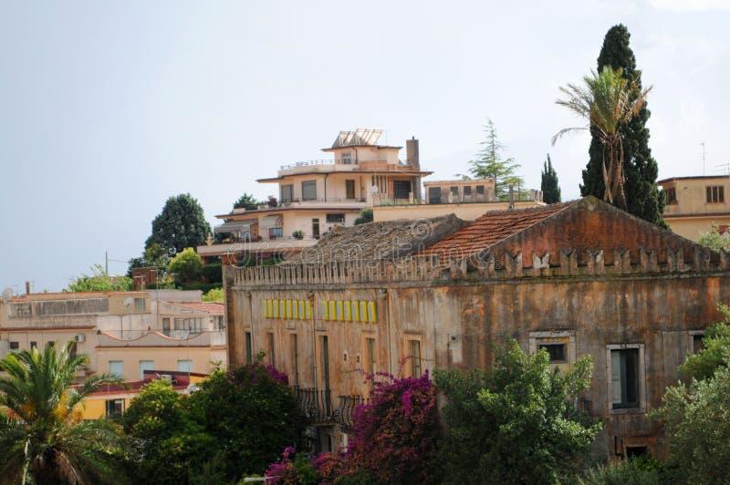 budynków dachów taormina obraz royalty free