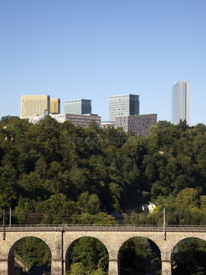 budynków europejska Luxembourg nowożytna ćwiartka zdjęcia royalty free