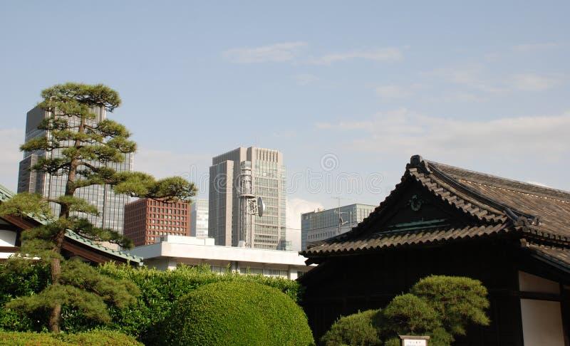budynków ogródów cesarski pałac Tokyo obraz royalty free
