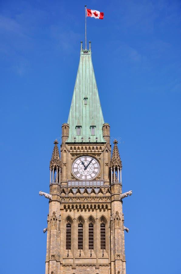 Budynków Ottawa Parlamentu Pokoju Wierza Obrazy Stock