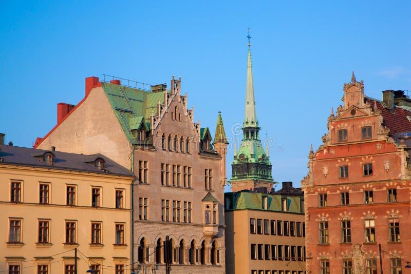 budynków stary Stockholm Sweden miasteczko zdjęcie stock
