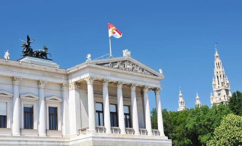 budynków urząd miasta parlament Vienna zdjęcia stock