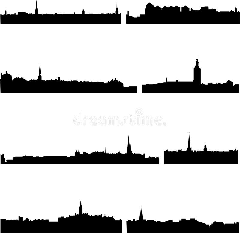 Download Budynków Wysocy Wzrosta Szwedzi Ilustracja Wektor - Ilustracja złożonej z konstrukcja, dwór: 13338675
