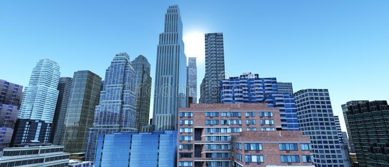 budynków wysoko nowożytny wzrost obraz stock