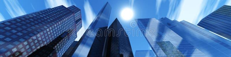 budynków wysoko nowożytny wzrost obrazy stock