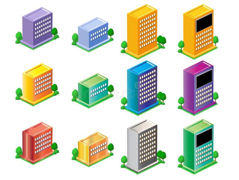 Download Budynki ilustracja wektor. Obraz złożonej z budynki, kolor - 3724510