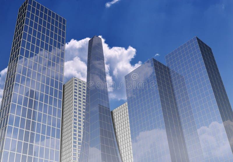 budynki biurowe royalty ilustracja