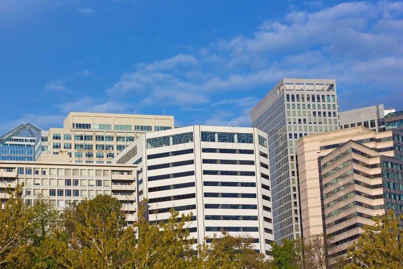 Budynki biurowi w Arlington, Virginia obrazy royalty free