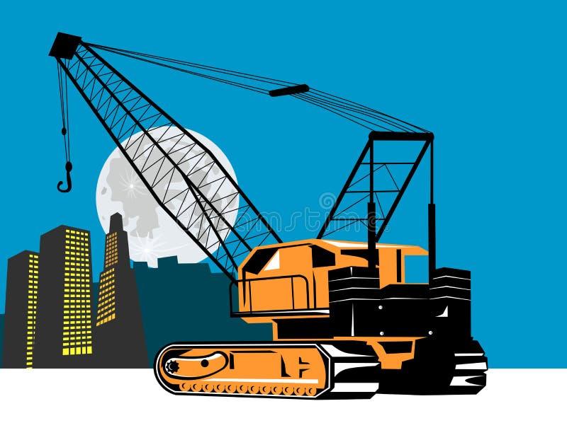 budynki dźwigowi ilustracji