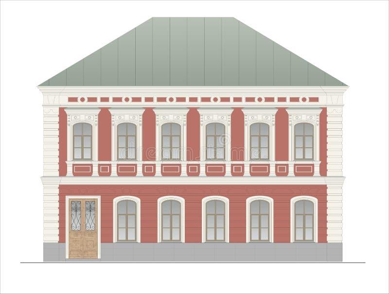 Budynki i struktury xx wiek wczesny i w połowie royalty ilustracja