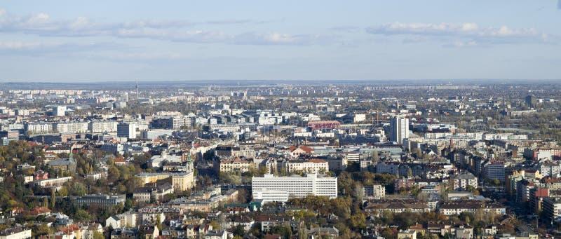 Budynki i zieleń Budapest zdjęcie royalty free