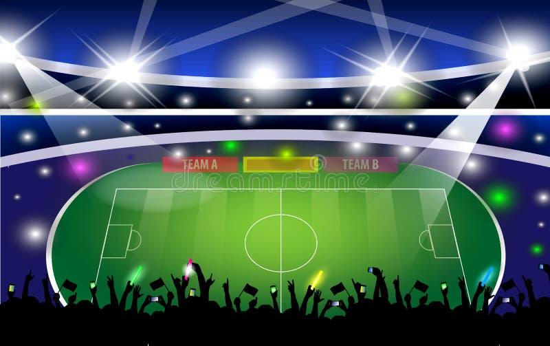 budynki jawni Futbolowa arena Puchar Świata ilustracja wektor
