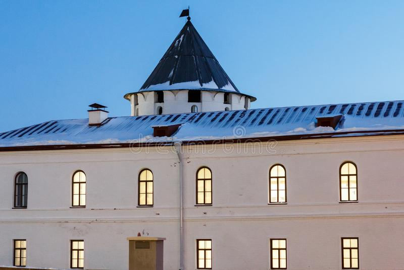 Budynki Kazan Kremlin obraz stock