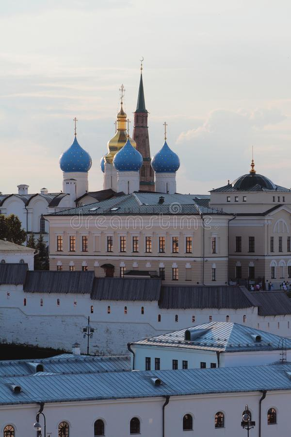 Budynki kompleks Annunciation katedra Kazan Kremlin, Tatarstan, Rosja zdjęcia royalty free