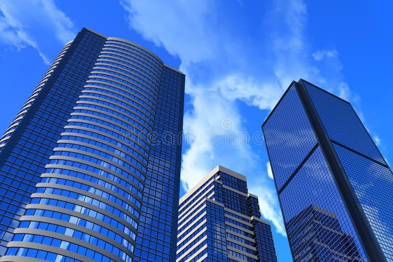 budynki korporacyjni royalty ilustracja