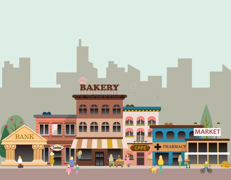 Budynki mały biznes royalty ilustracja