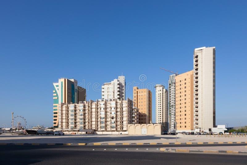 Budynki mieszkalni w Kuwai fotografia royalty free