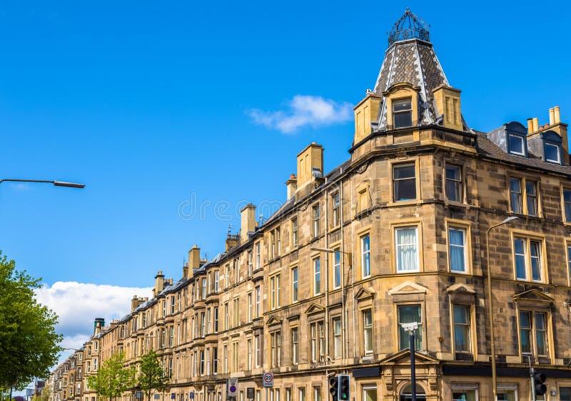 Budynki mieszkalni w Południowym Leith okręgu Edynburg obraz royalty free