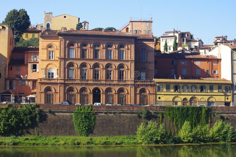 Budynki na banku, Florencja zdjęcia stock