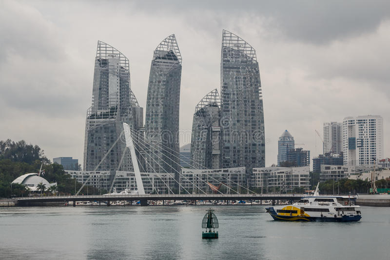budynki nowożytny Singapore zdjęcia royalty free