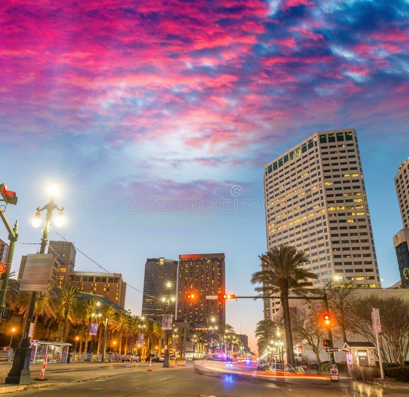 Budynki Nowy Orlean przy zmierzchem, Luizjana - usa zdjęcia royalty free