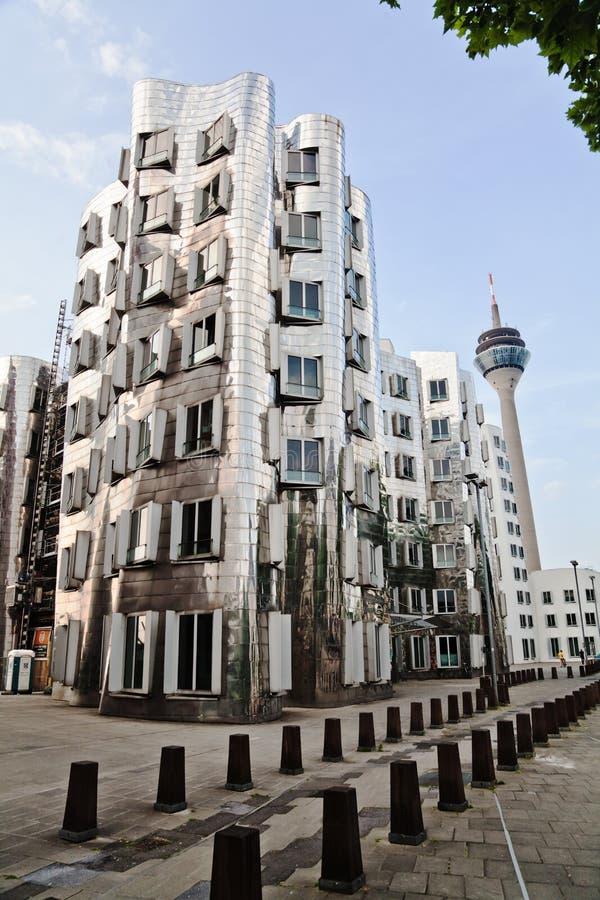 Budynki od Frank Gehry w Düsseldorf fotografia royalty free