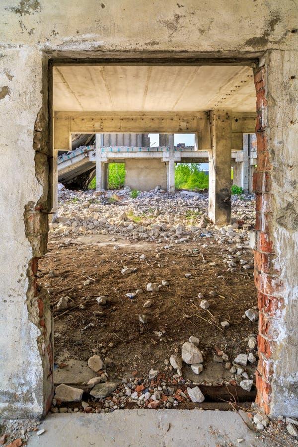 Budynki, ruiny zdjęcia stock