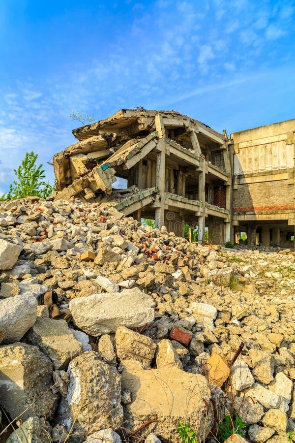 Budynki, ruiny fotografia stock