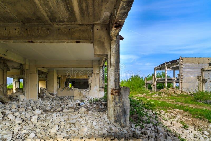 Budynki, ruiny zdjęcie royalty free