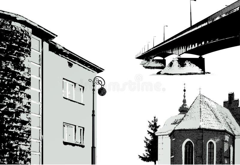 budynki ustawiają wektor ilustracji