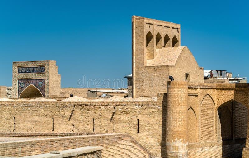 Budynki w średniowiecznym miasteczku Bukhara, Uzbekistan obraz royalty free