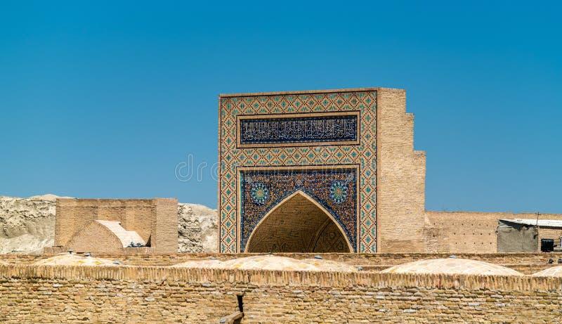 Budynki w średniowiecznym miasteczku Bukhara, Uzbekistan obrazy stock
