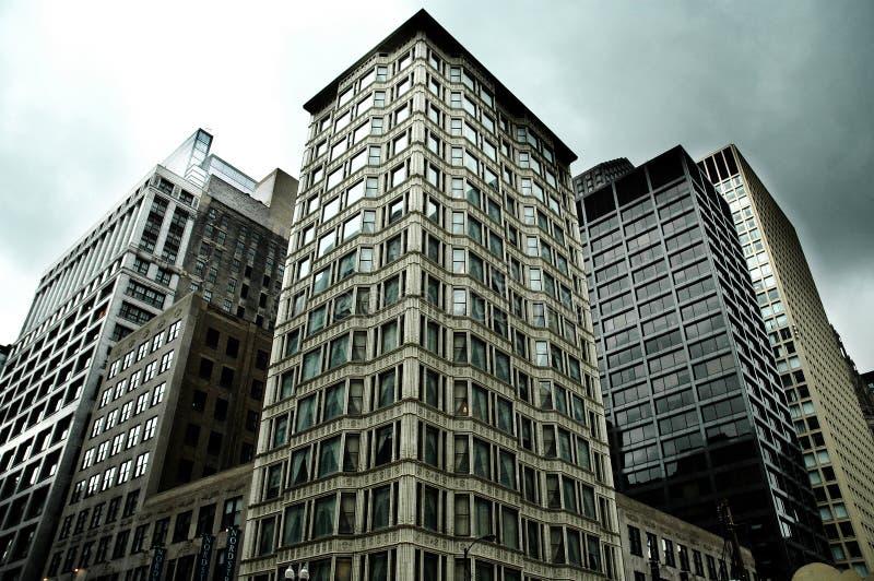 budynki w centrum fotografia stock