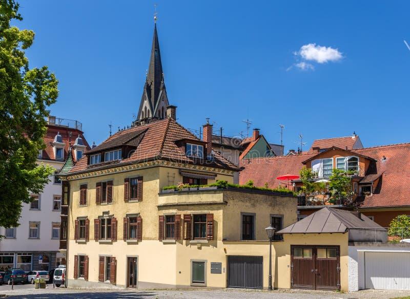 Budynki w centrum miasta Konstanz, Niemcy obraz royalty free